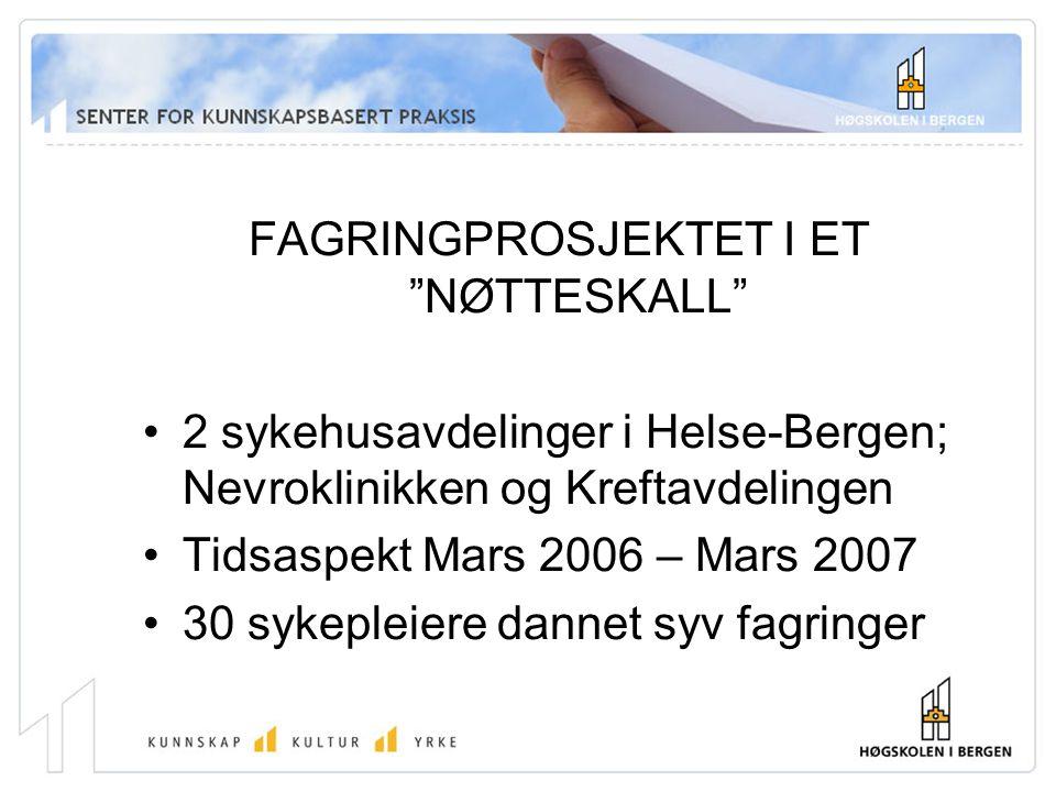 FAGRINGPROSJEKTET I ET NØTTESKALL