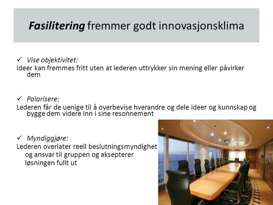 Fasilitering fremmer godt innovasjonsklima