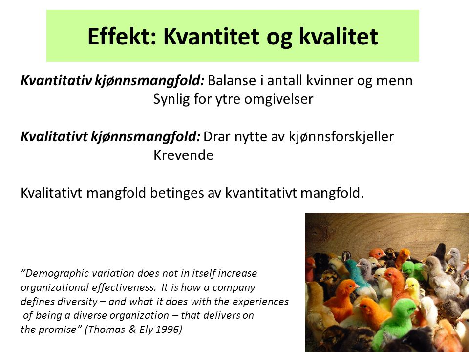 Effekt: Kvantitet og kvalitet