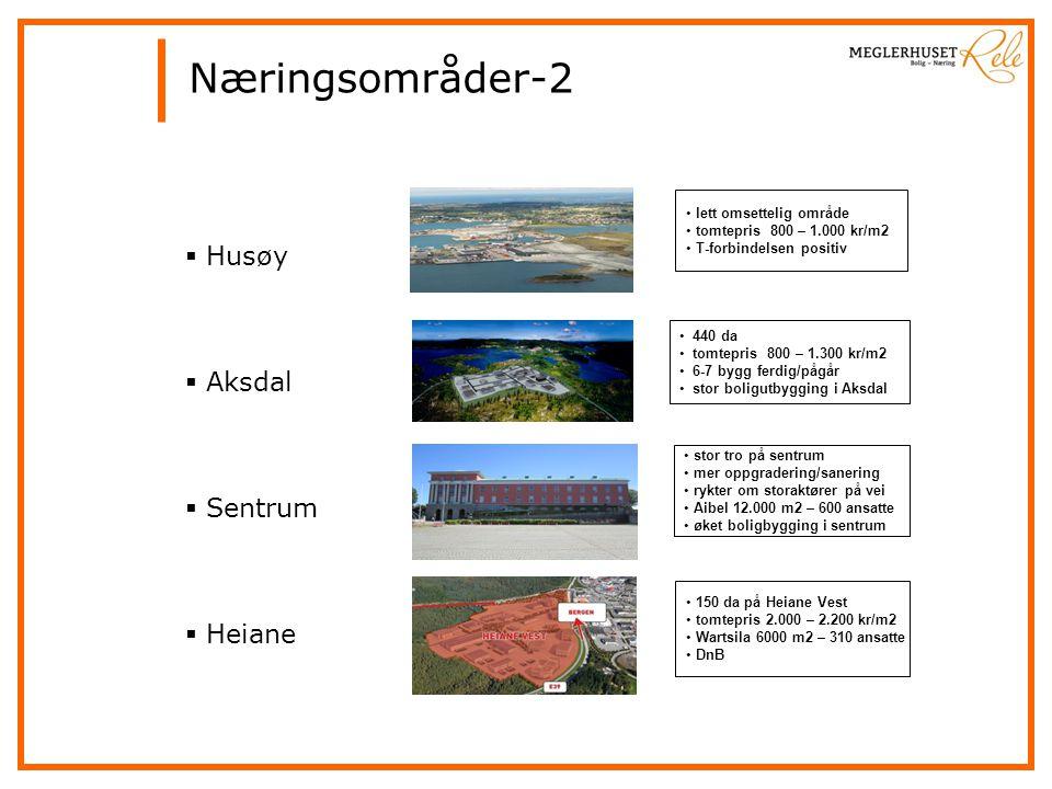 Næringsområder-2 Husøy Aksdal Sentrum Heiane lett omsettelig område