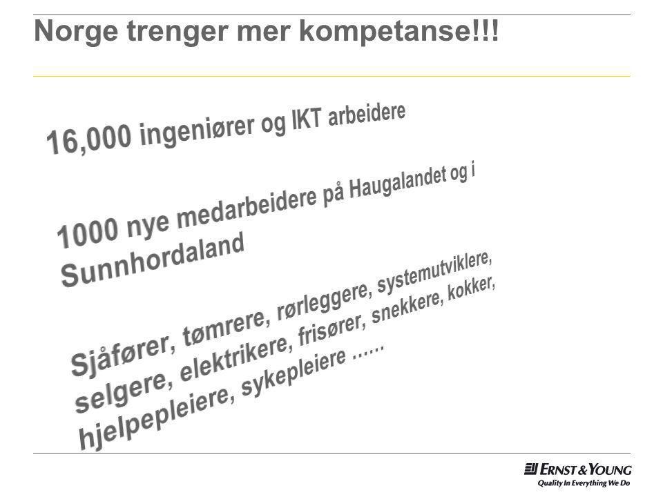 Norge trenger mer kompetanse!!!