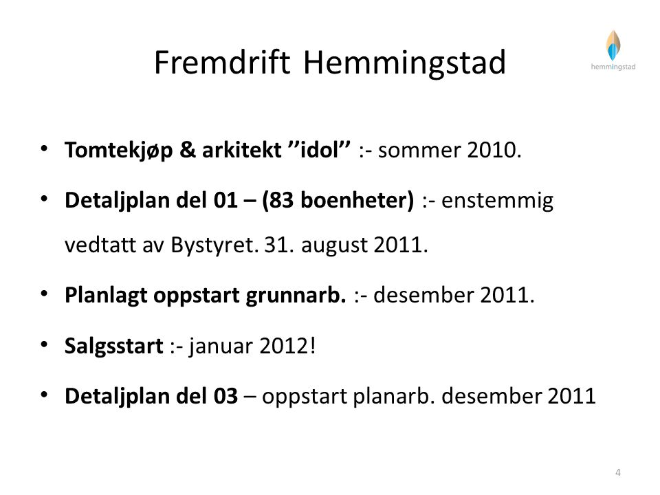 Fremdrift Hemmingstad