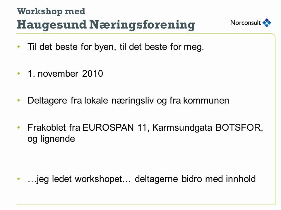 Workshop med Haugesund Næringsforening