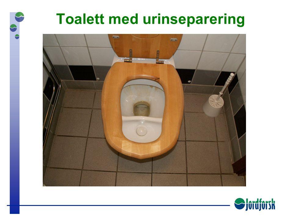 Toalett med urinseparering