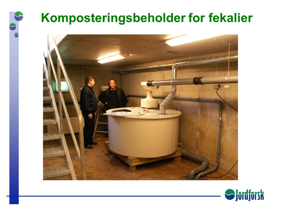 Komposteringsbeholder for fekalier