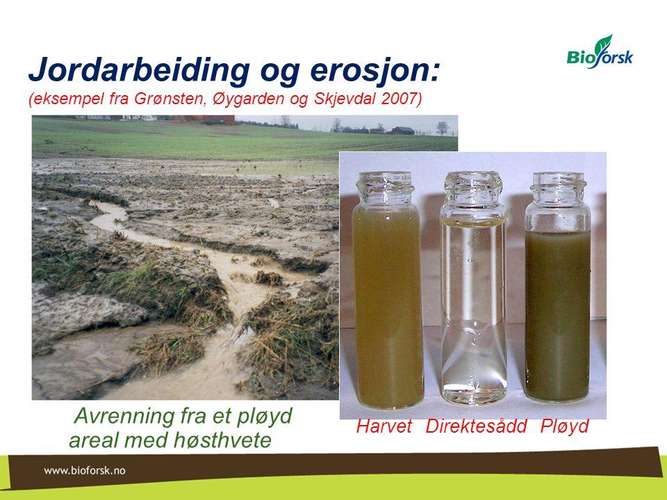 Jordarbeiding og erosjon: (eksempel fra Grønsten, Øygarden og Skjevdal 2007)