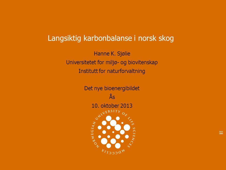 Langsiktig karbonbalanse i norsk skog