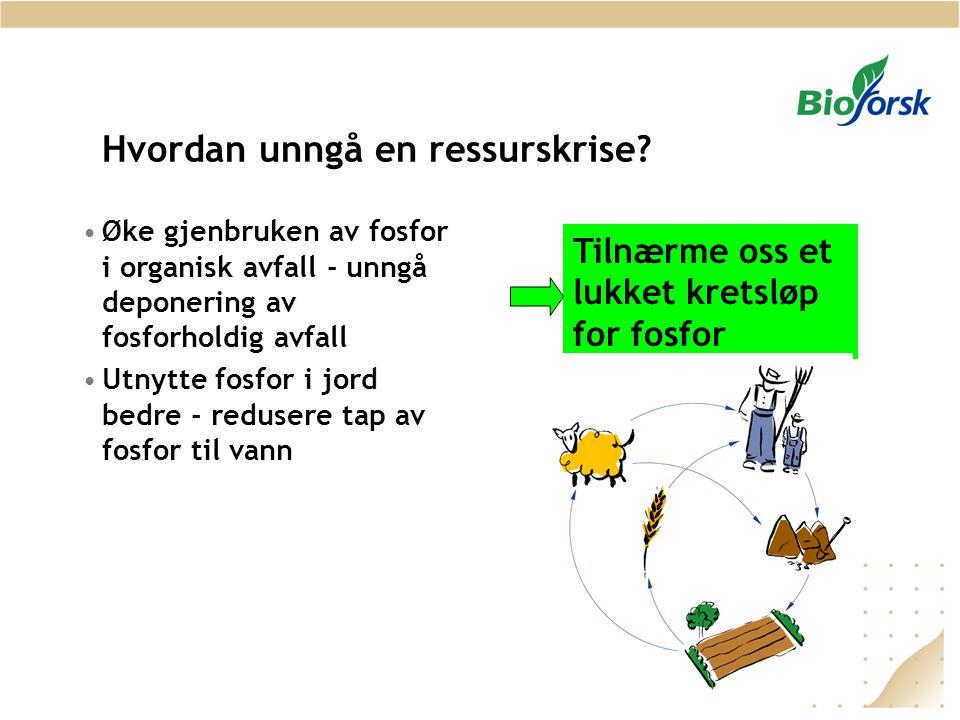 Hvordan unngå en ressurskrise