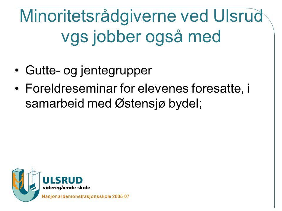 Minoritetsrådgiverne ved Ulsrud vgs jobber også med