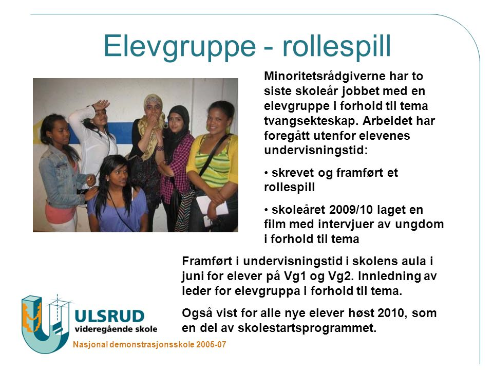Elevgruppe - rollespill