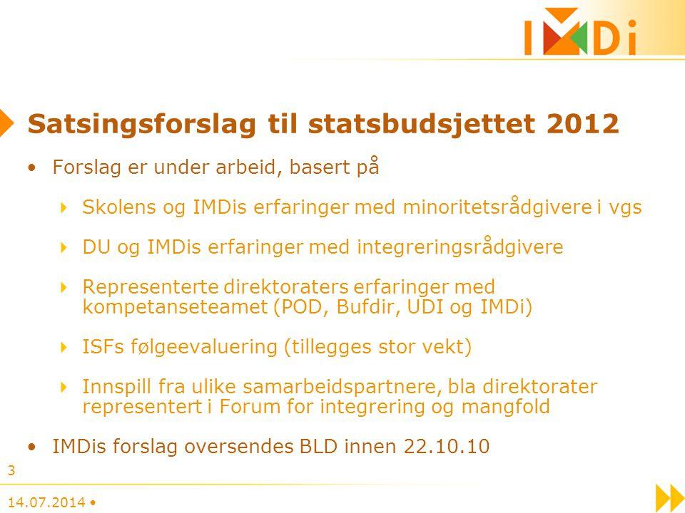 Satsingsforslag til statsbudsjettet 2012