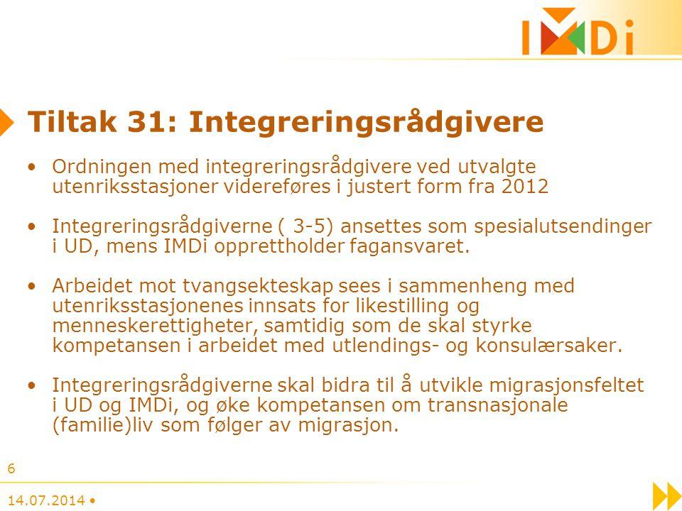 Tiltak 31: Integreringsrådgivere