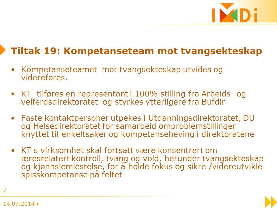 Tiltak 19: Kompetanseteam mot tvangsekteskap