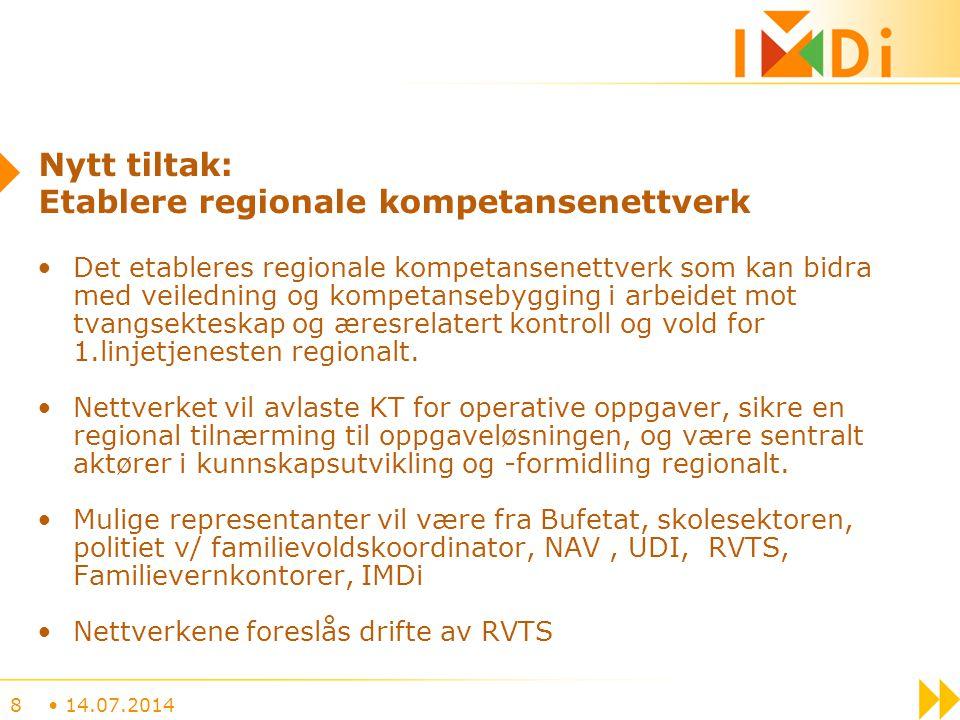 Nytt tiltak: Etablere regionale kompetansenettverk