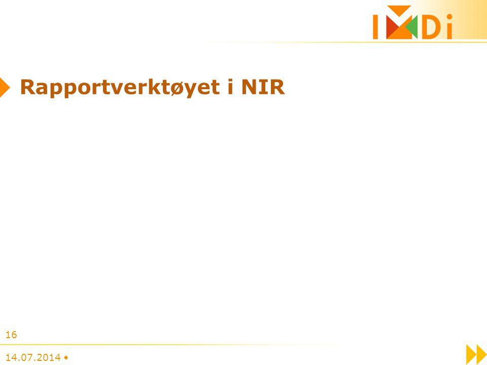Rapportverktøyet i NIR