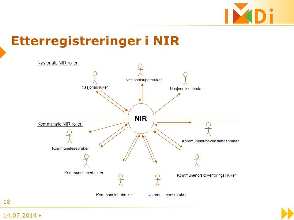 Etterregistreringer i NIR