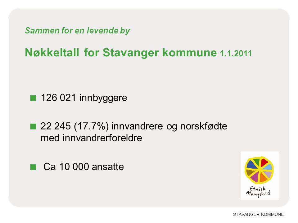 Sammen for en levende by Nøkkeltall for Stavanger kommune 1.1.2011