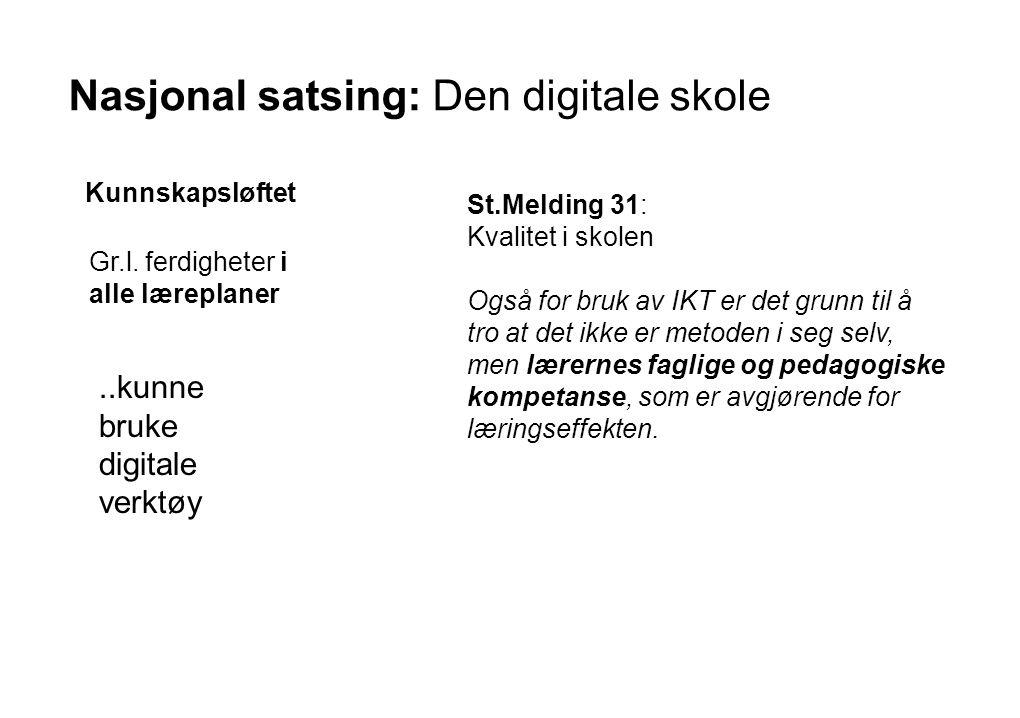 Nasjonal satsing: Den digitale skole