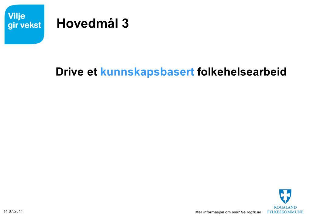 Hovedmål 3 Drive et kunnskapsbasert folkehelsearbeid