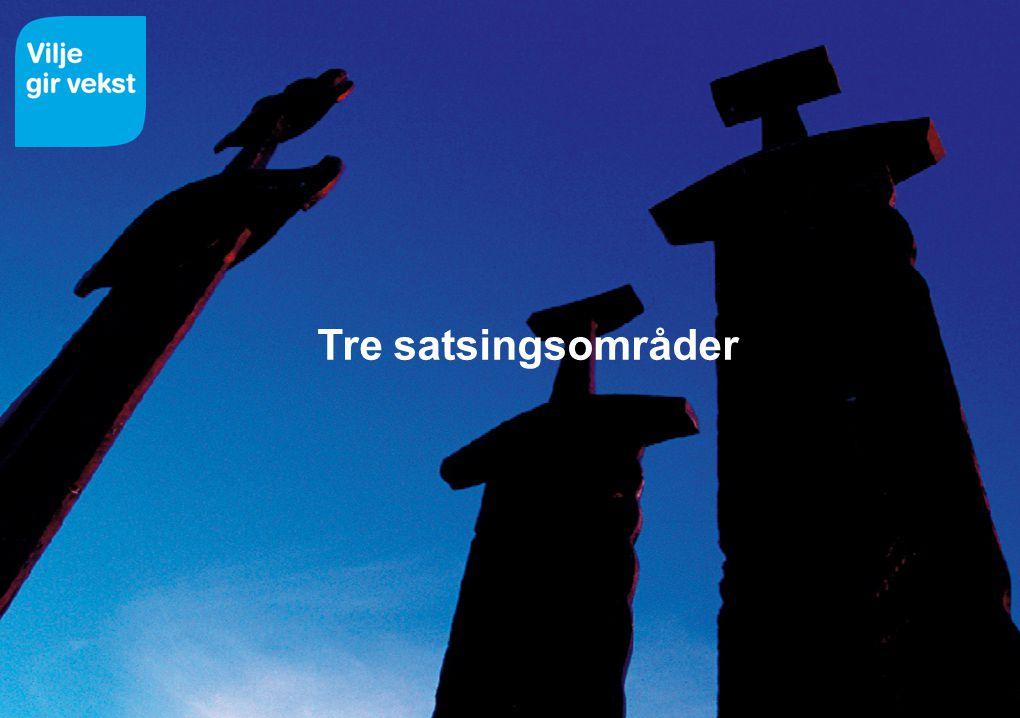 Tre satsingsområder