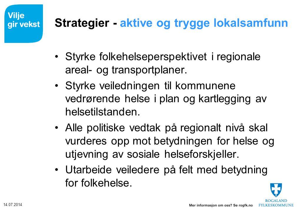 Strategier - aktive og trygge lokalsamfunn