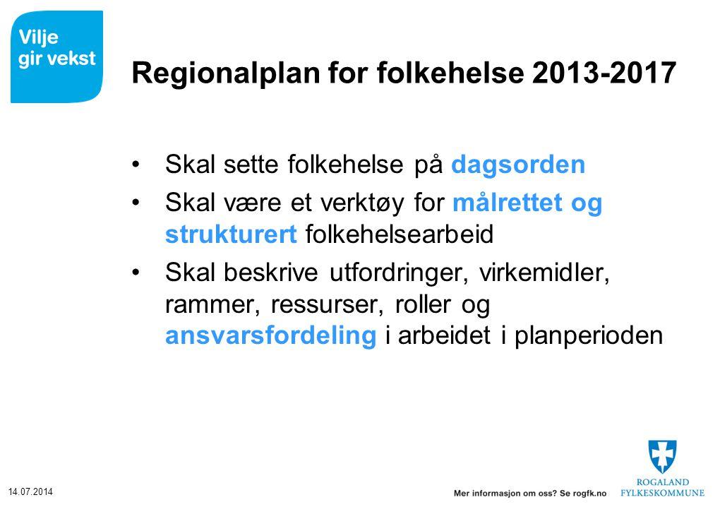 Regionalplan for folkehelse 2013-2017