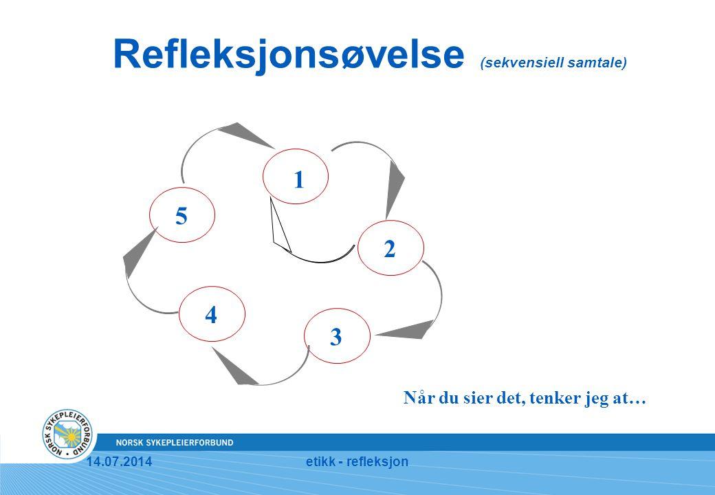 Refleksjonsøvelse (sekvensiell samtale)