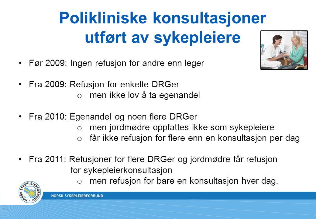 Polikliniske konsultasjoner utført av sykepleiere