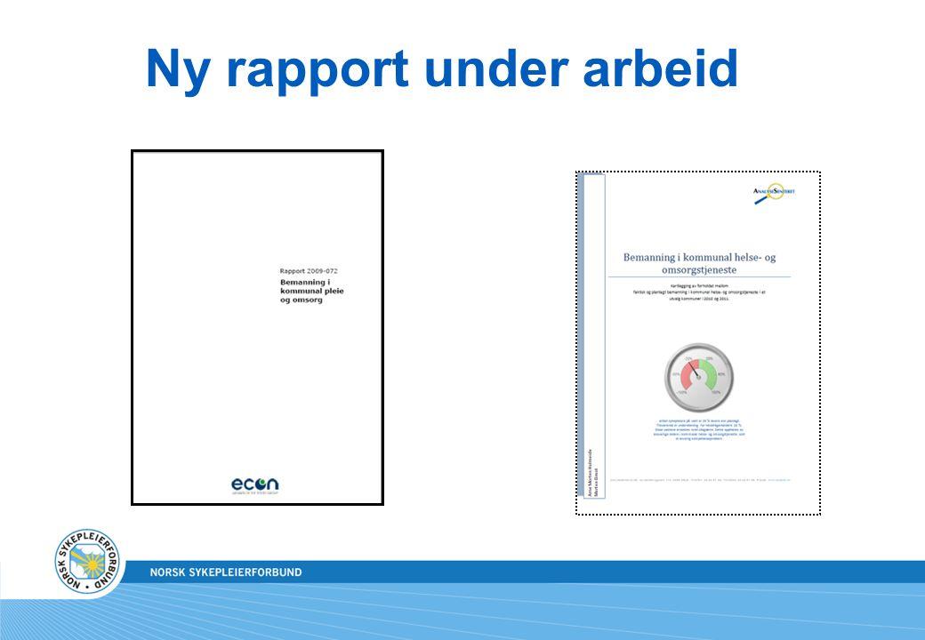 Ny rapport under arbeid