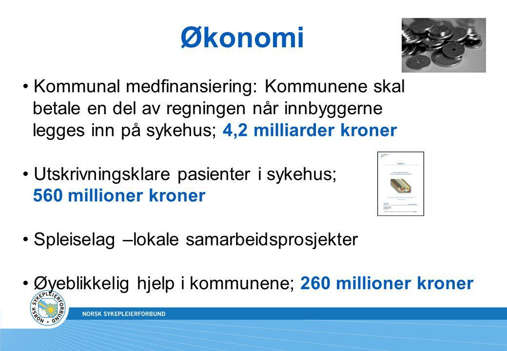 Økonomi Kommunal medfinansiering: Kommunene skal