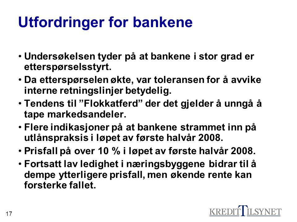 Utfordringer for bankene