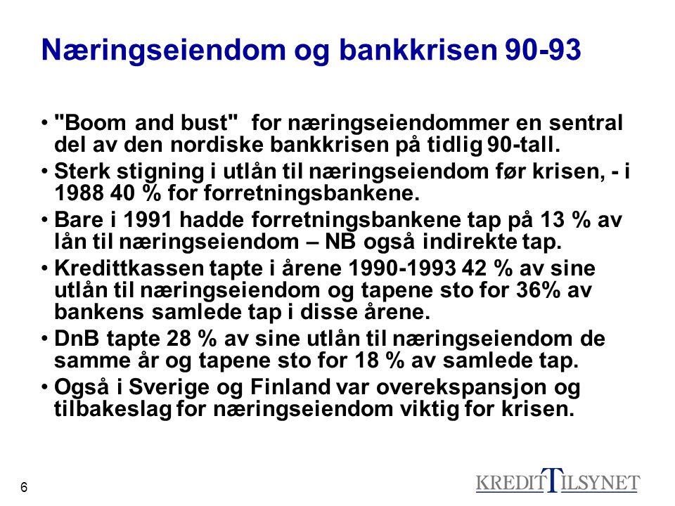 Næringseiendom og bankkrisen 90-93