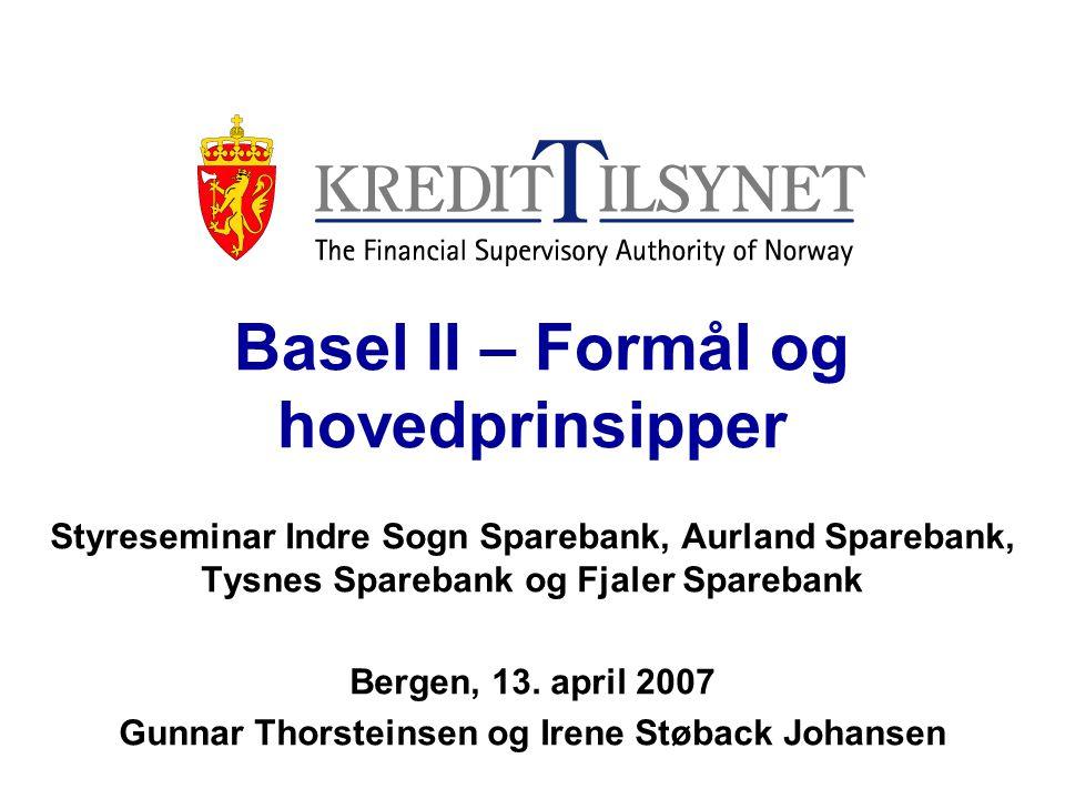 Basel II – Formål og hovedprinsipper