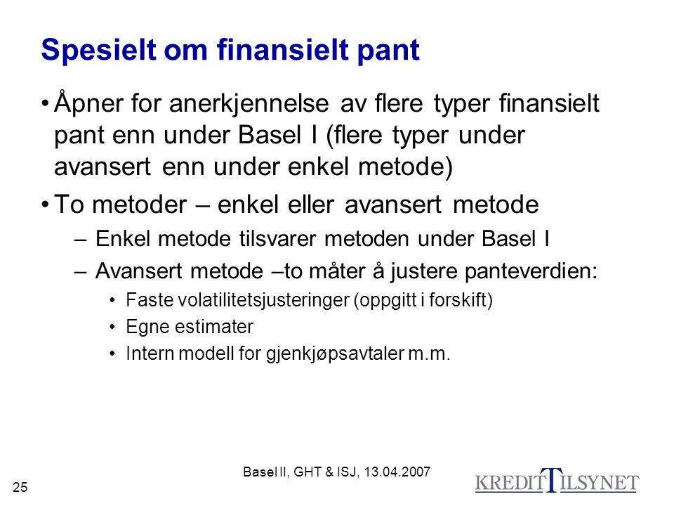 Spesielt om finansielt pant