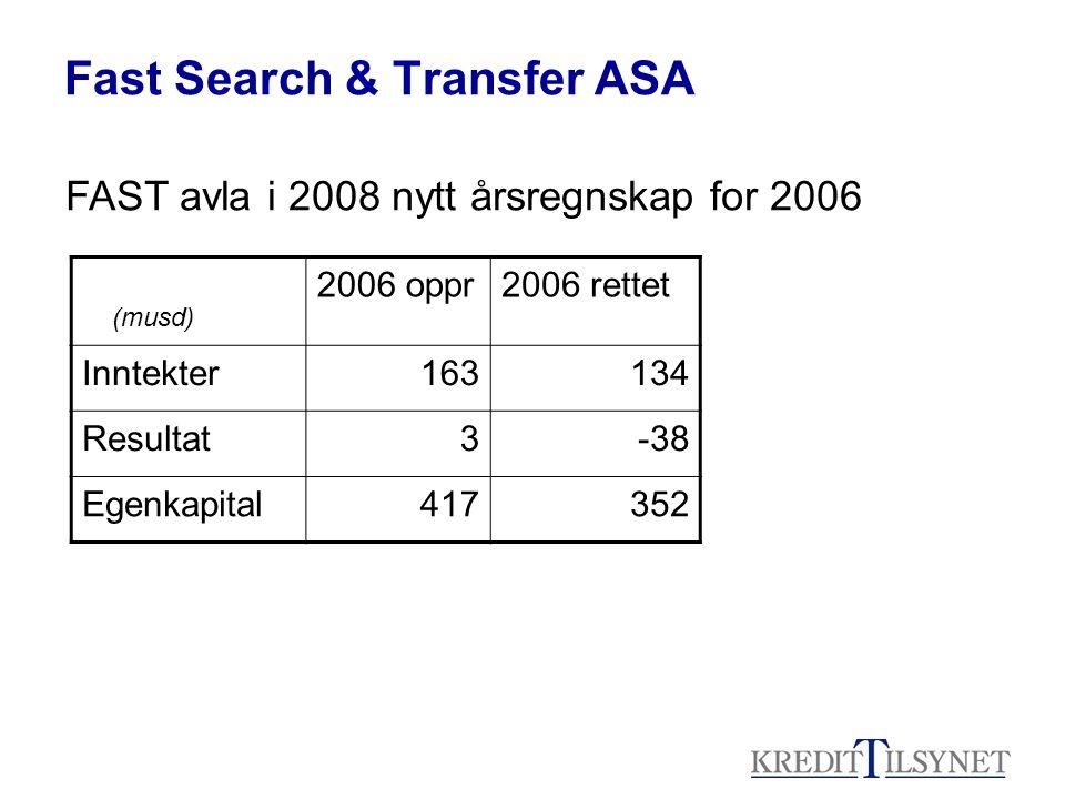 Fast Search & Transfer ASA