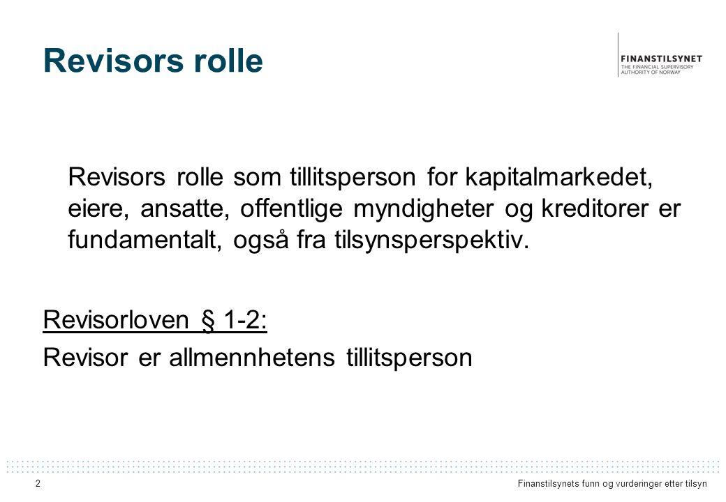 Revisors rolle