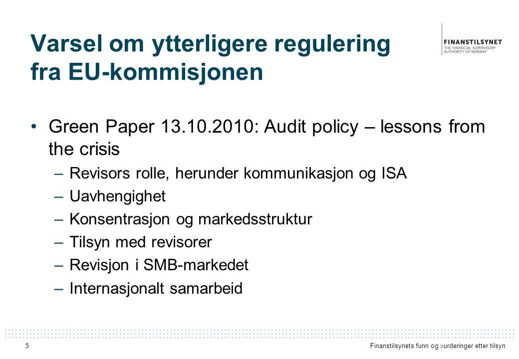 Varsel om ytterligere regulering fra EU-kommisjonen
