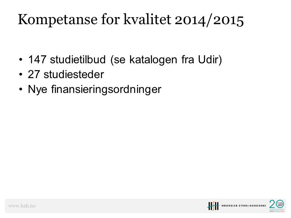 Kompetanse for kvalitet 2014/2015