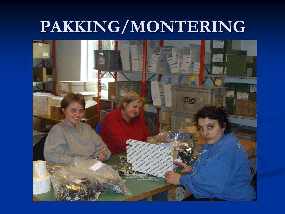 PAKKING/MONTERING