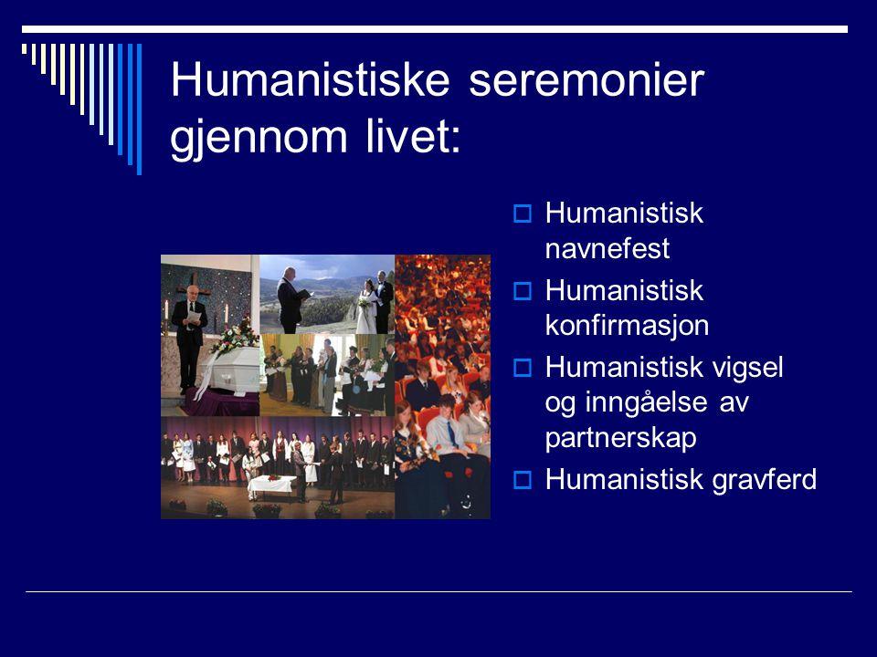 Humanistiske seremonier gjennom livet: