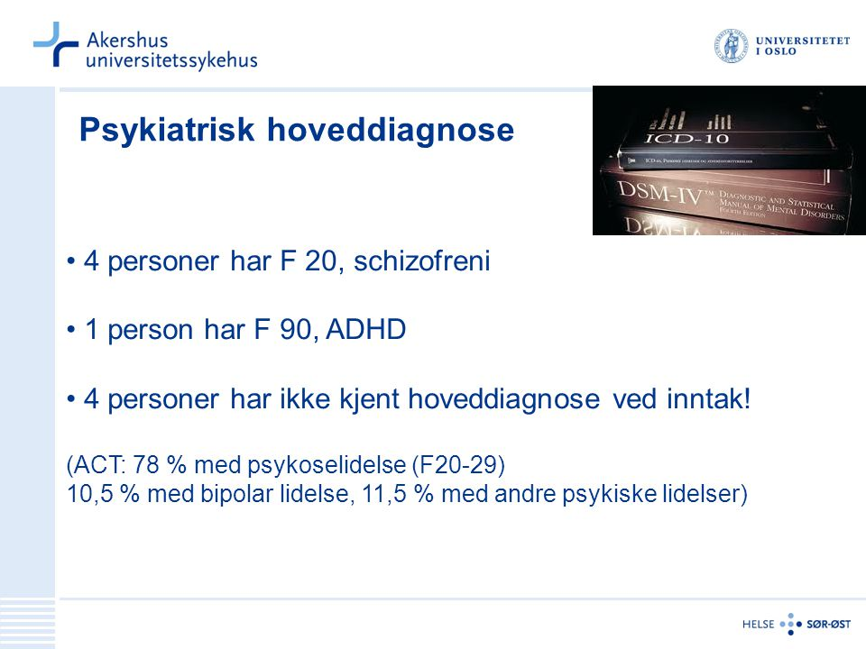Psykiatrisk hoveddiagnose