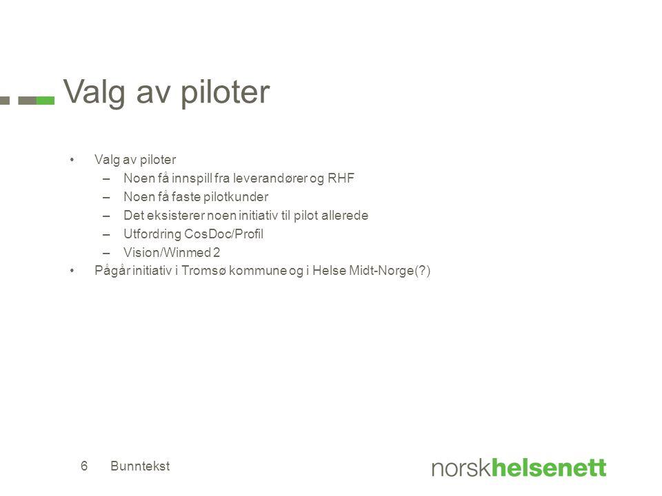 Valg av piloter Valg av piloter