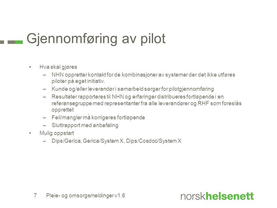 Gjennomføring av pilot