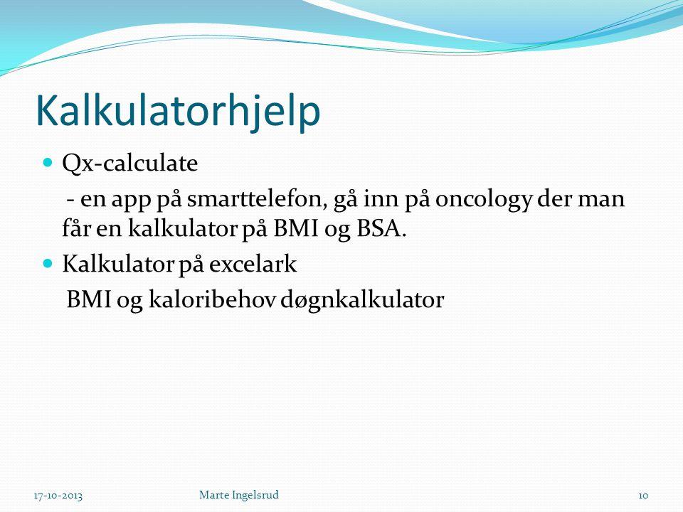 Kalkulatorhjelp Qx-calculate