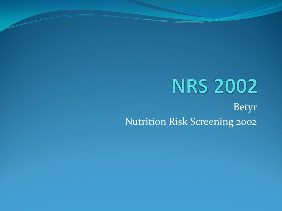 Betyr Nutrition Risk Screening 2002