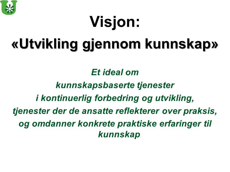 Visjon: «Utvikling gjennom kunnskap» Et ideal om
