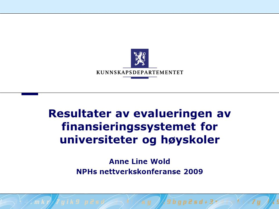 Anne Line Wold NPHs nettverkskonferanse 2009