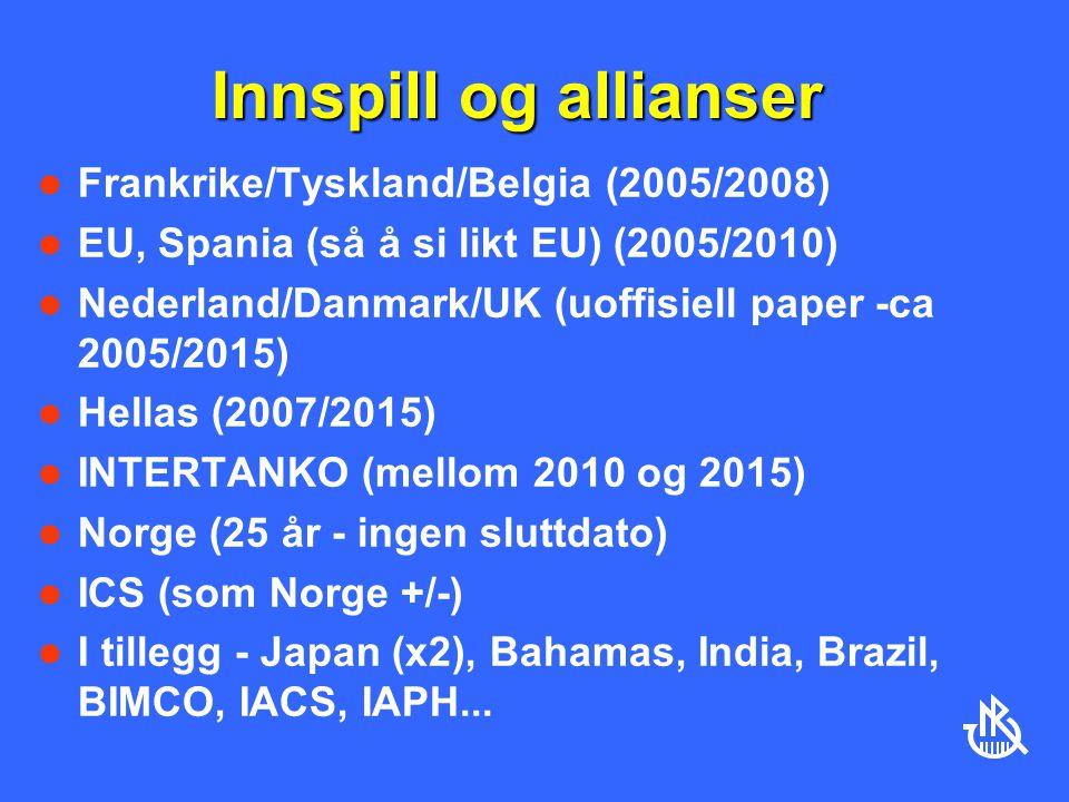 Innspill og allianser Frankrike/Tyskland/Belgia (2005/2008)