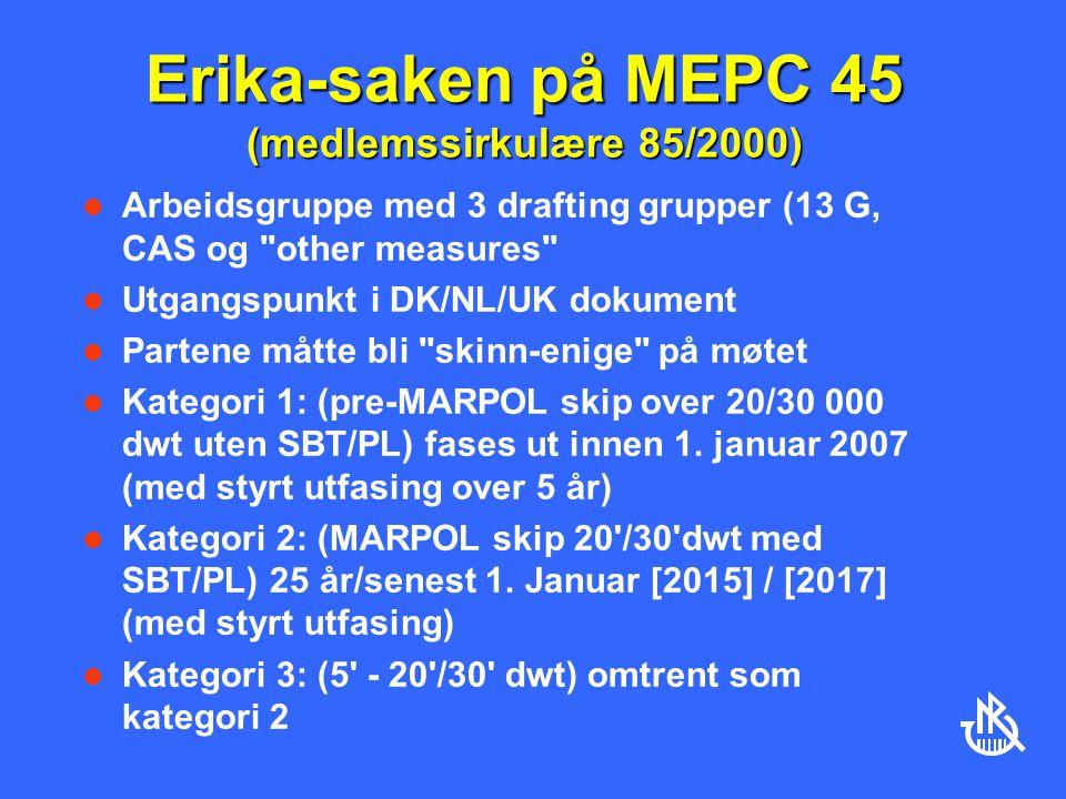 Erika-saken på MEPC 45 (medlemssirkulære 85/2000)