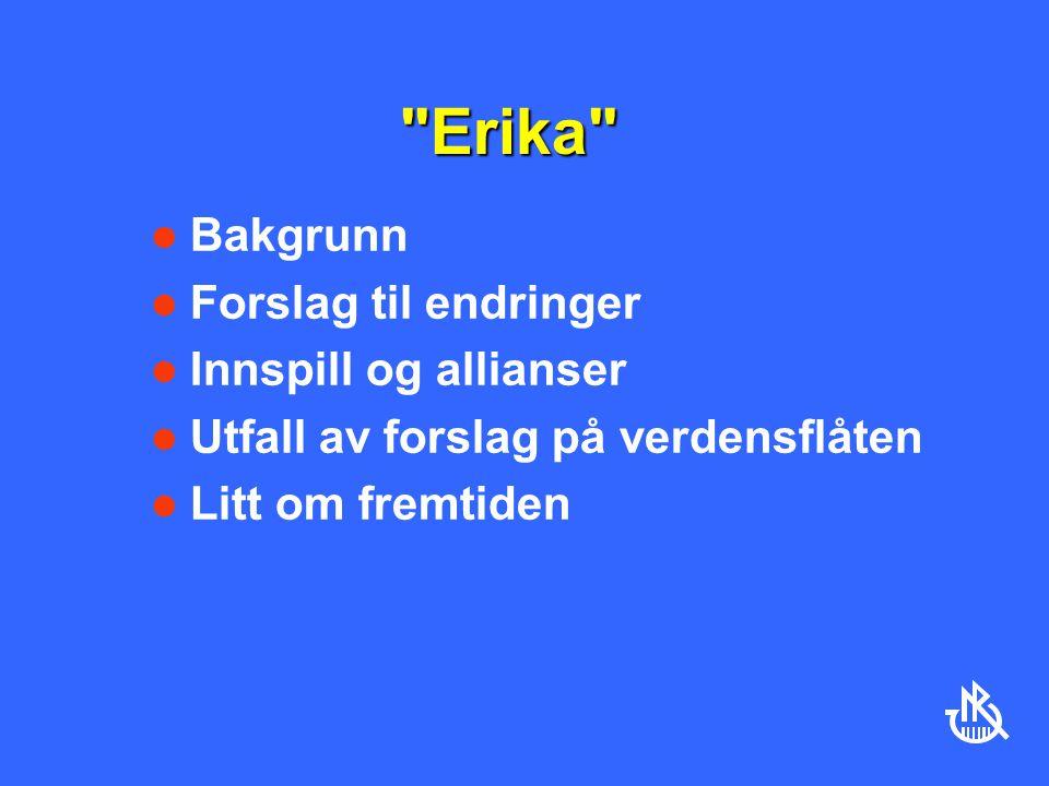 Erika Bakgrunn Forslag til endringer Innspill og allianser